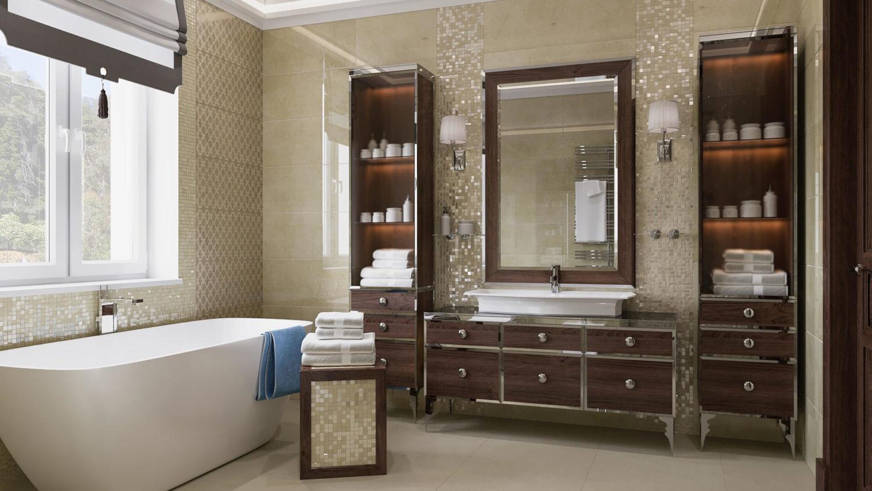 Отдельностоящая ванна: цветовые решения