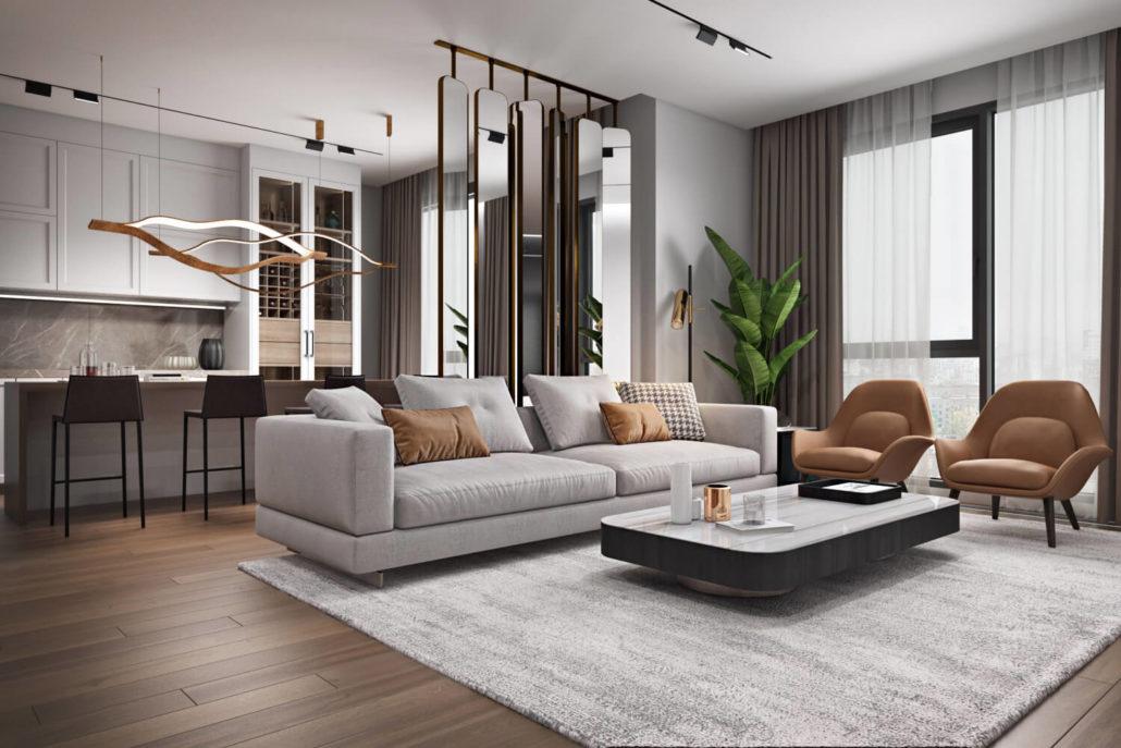 Трендовый дизайн интерьера квартиры с идеальной организацией пространства