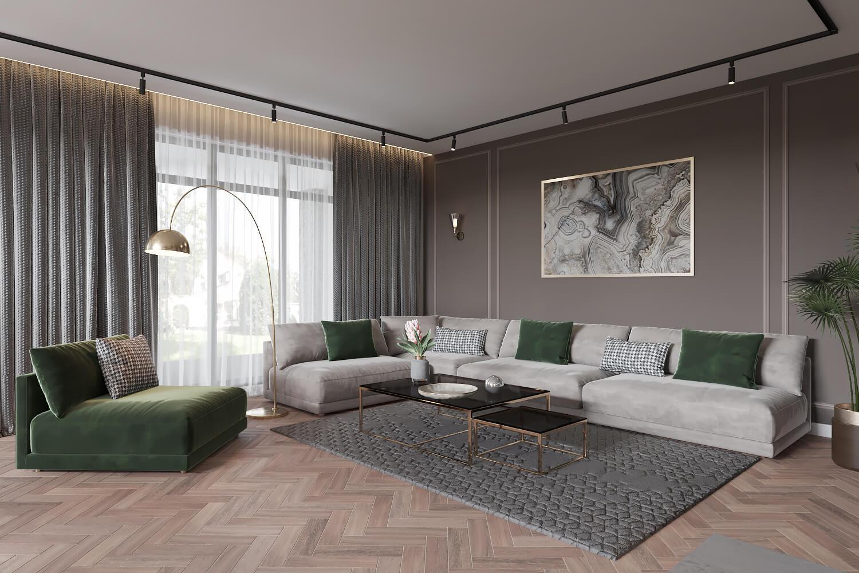 Трендовый дизайн интерьера частного дома