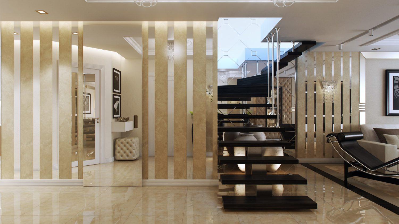 Дизайн пентхауса с элегантной лестницей