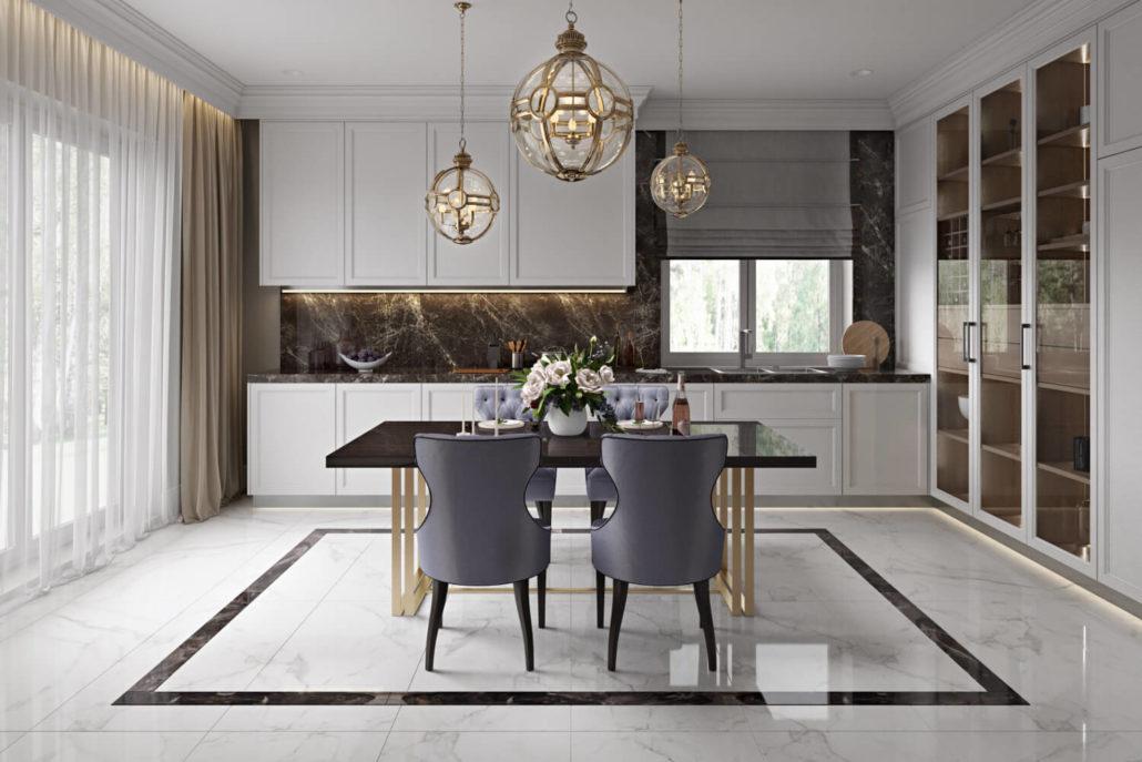Дизайн интерьера шикарной кухни