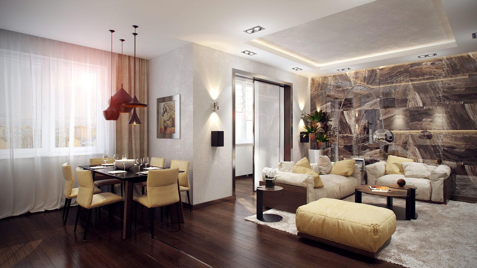 Стильное жилье с системой умный дом для квартиры
