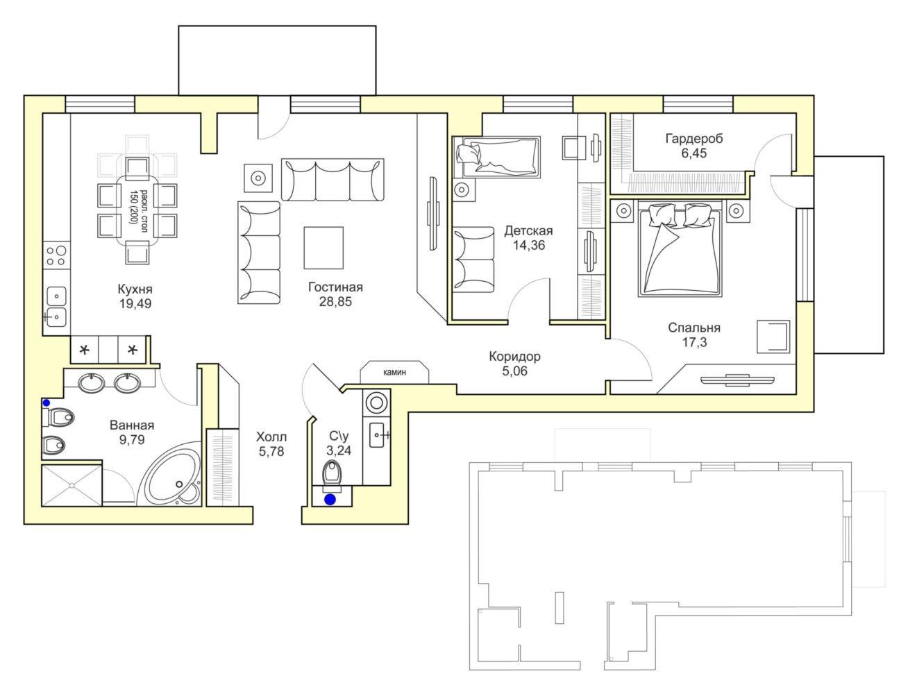 План комфортной квартиры