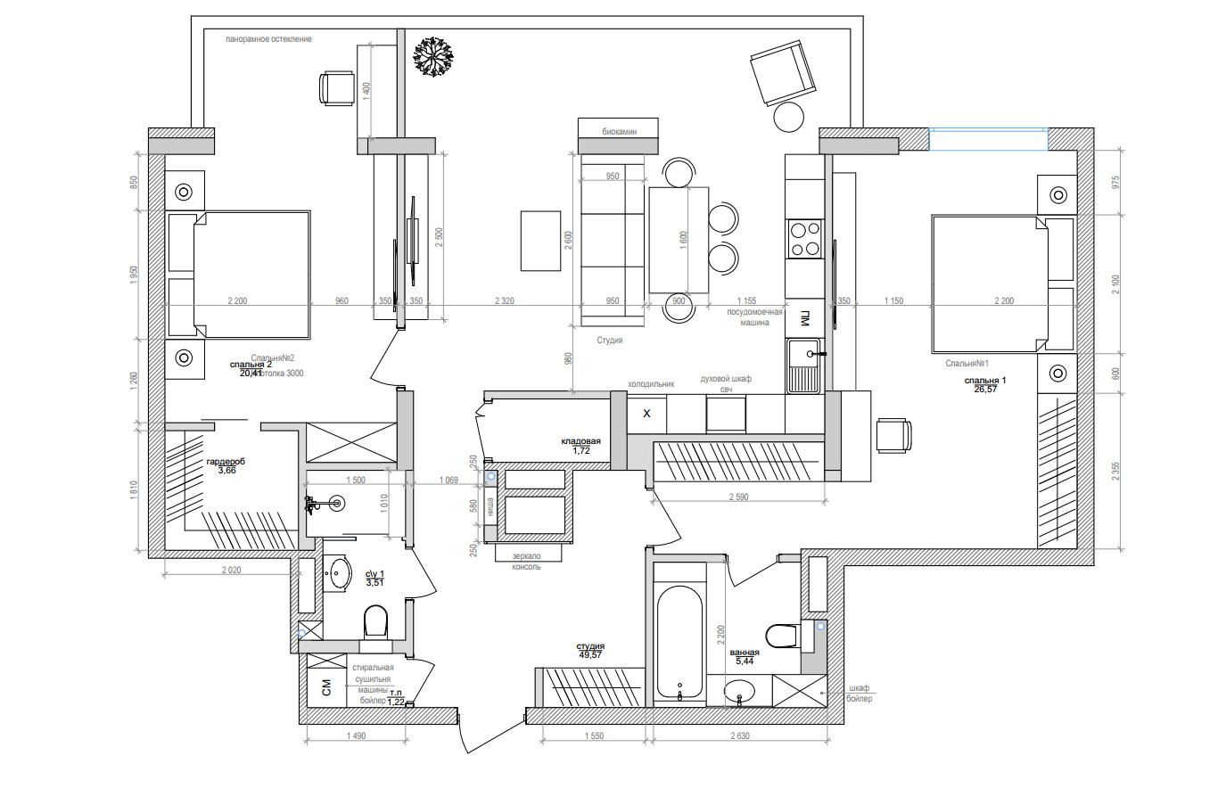 План уютной квартиры