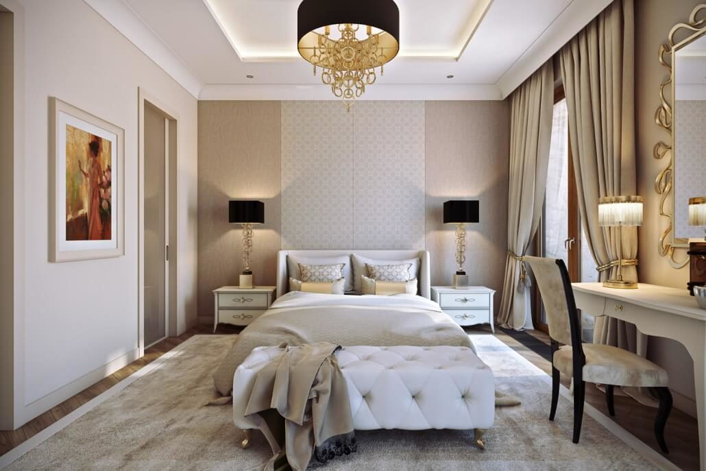 Спальня, оформленная стилистом интерьера