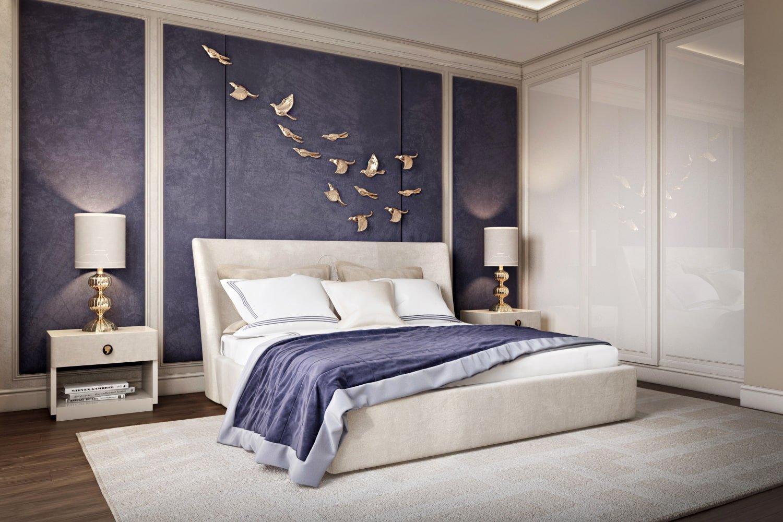 Дизайн интерьера спальни в нежных тонах