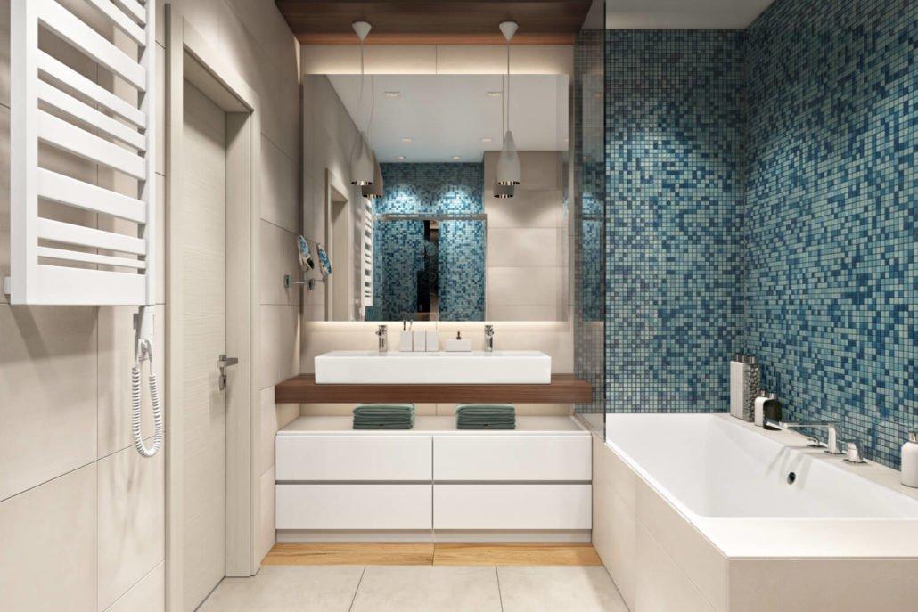 Стильная плитка в современной ванной комнате