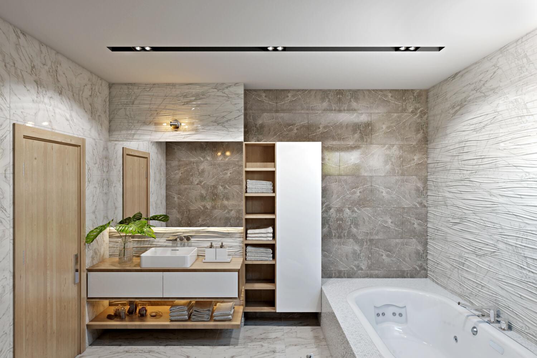 Функциональное освещение в ванной комнате