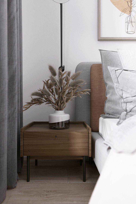 Проект дизайна двухкомнатной квартиры: спальня