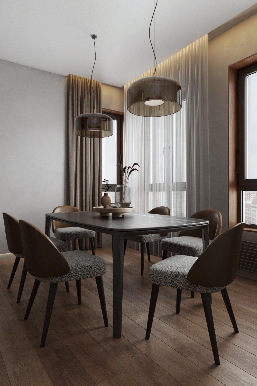 Дизайн интерьера столовой в стиле минимализм