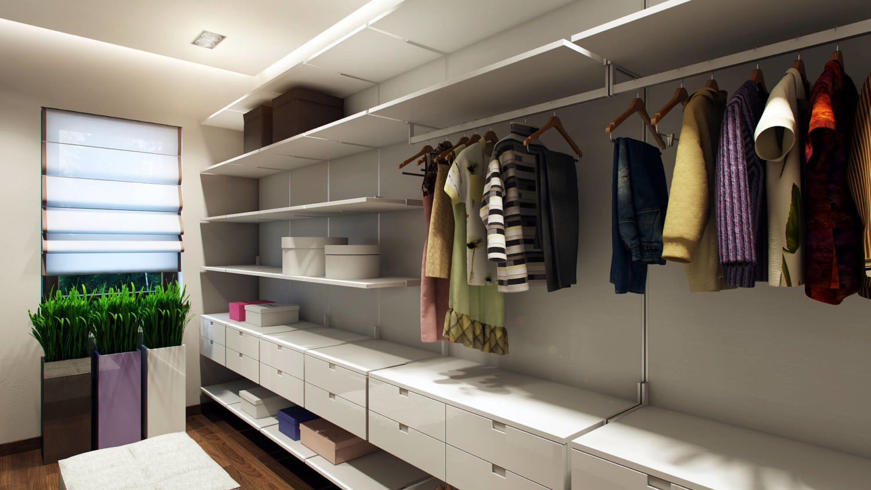 Открытая система хранения для гардероба