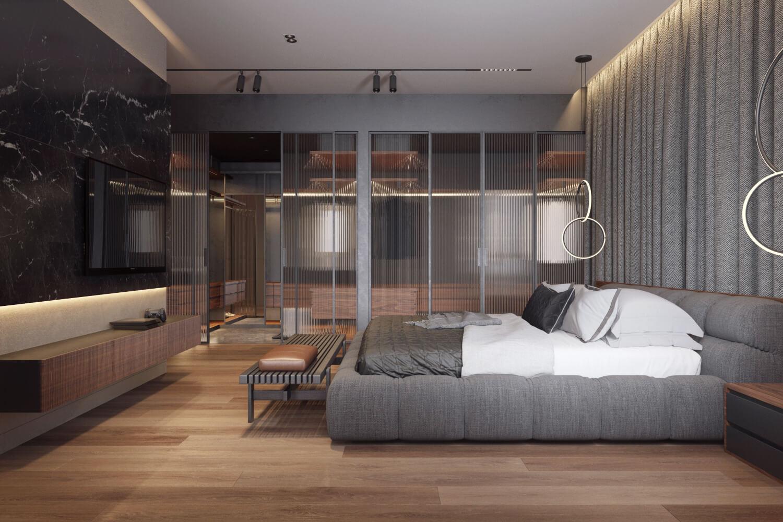 Система хранения для гардероба в спальне