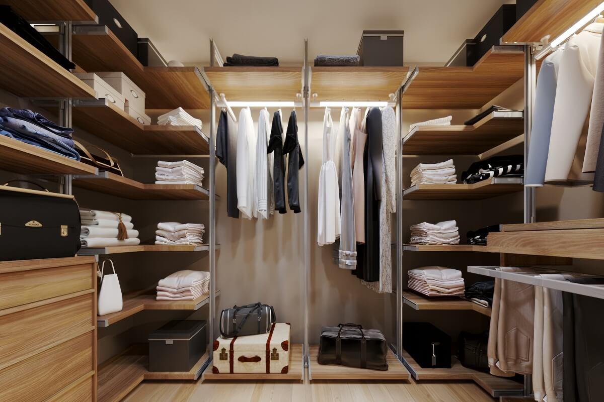 Современные системы хранения для гардероба