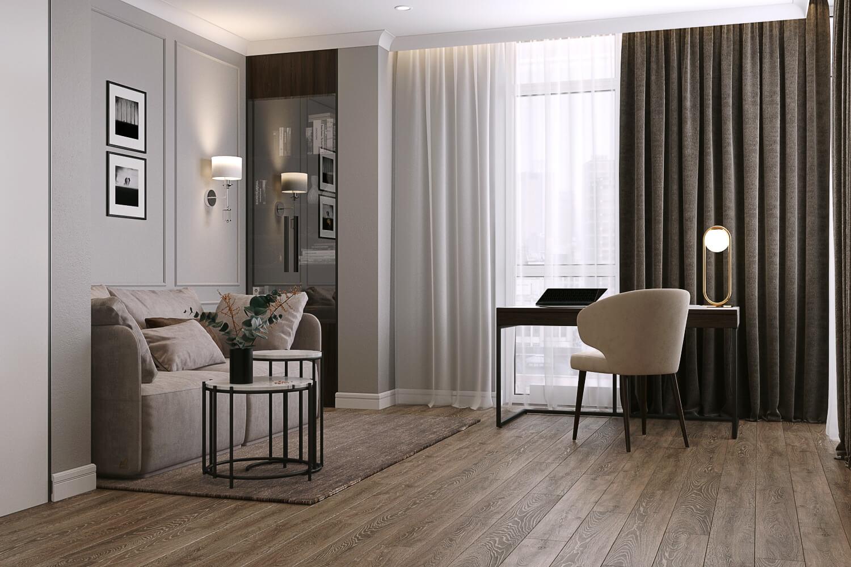 Легкий текстиль в интерьере комнаты