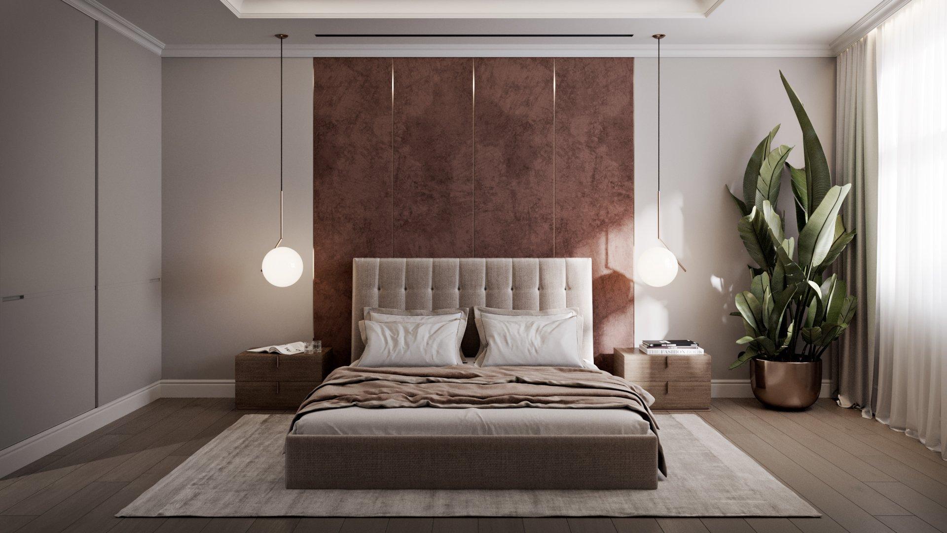Растения в современном дизайне интерьера спальни