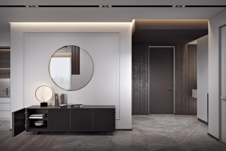Стильный дизайн интерьера прихожей в квартире