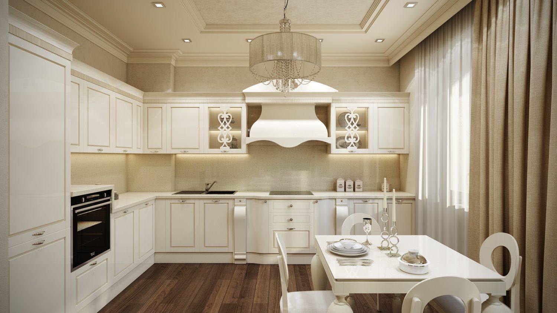 Стильная кухня в светлой цветовой гамме
