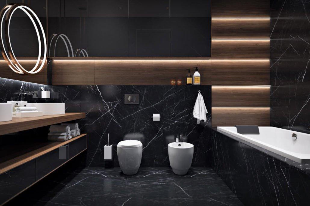 Крючки и держатели в интерьере ванной