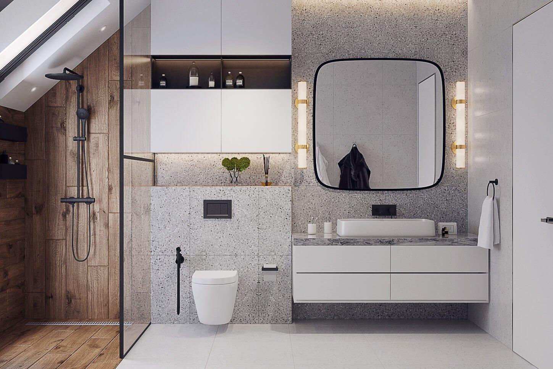 Удобная система хранения в ванной комнате
