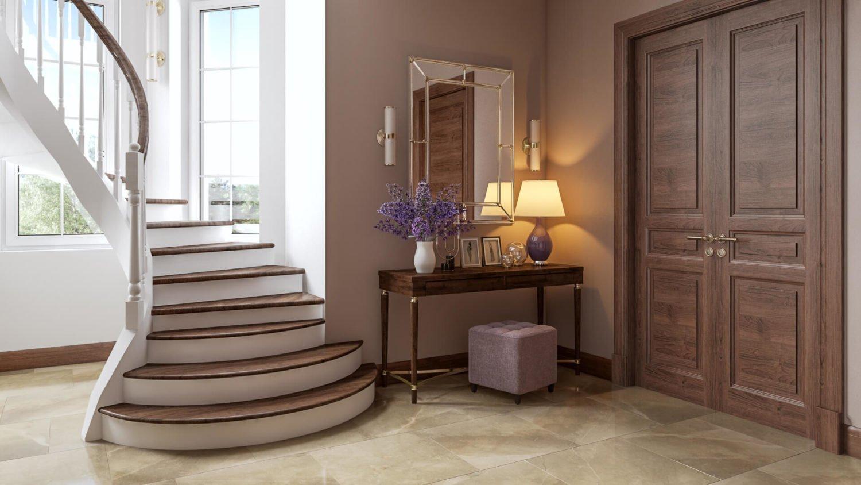 Современный дизайн лестницы в частном доме