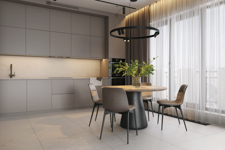 Дизайн современной кухни в светлых тонах