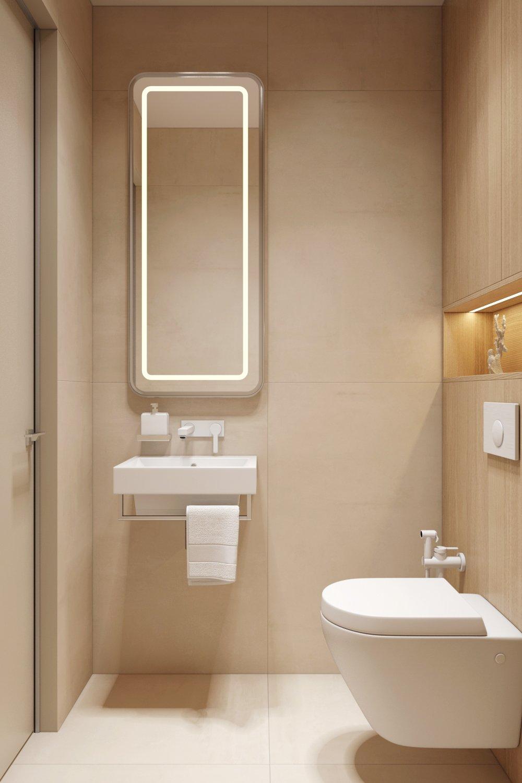 Прямоугольная раковина в ванной комнате