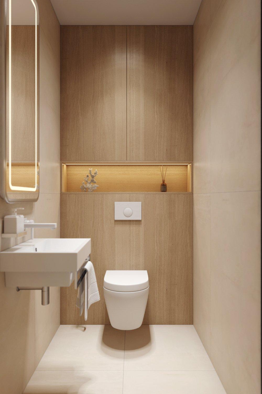 Прямоугольная раковина в дизайне ванной