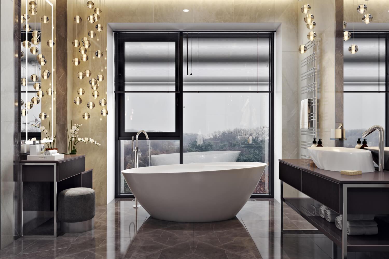 Накладная раковина в интерьере ванной