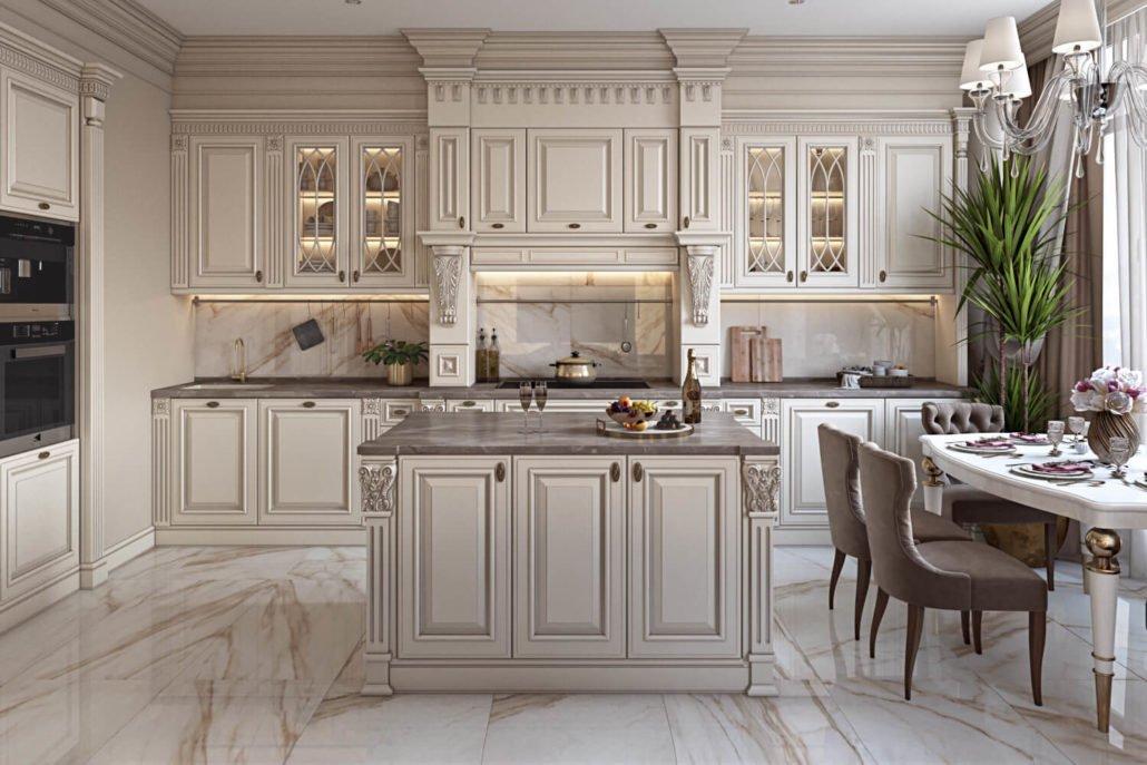 Кухонная мойка из современных материалов в интерьере