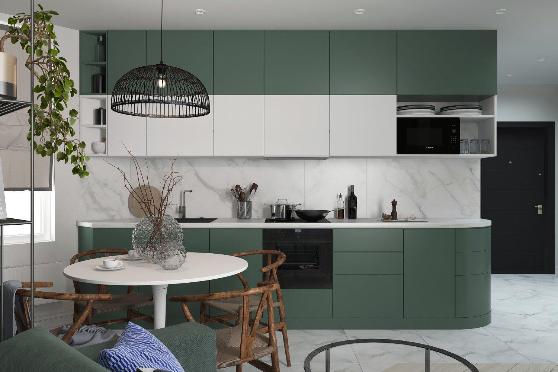 Стильная мойка в интерьере современной кухни