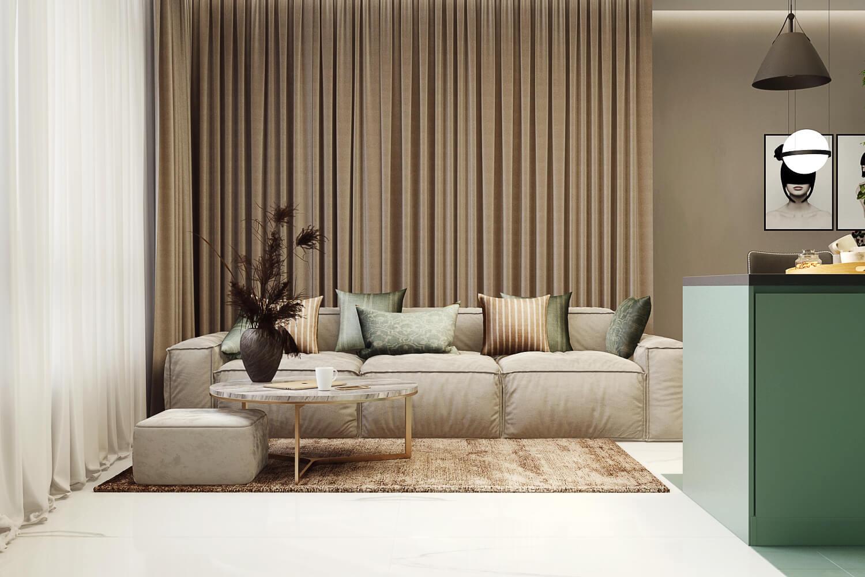 Зонирование в дизайне современной гостиной