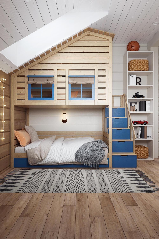 Детская комната с хорошо продуманной планировкой