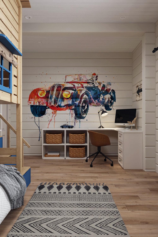 Детская комната с ярким дизайном