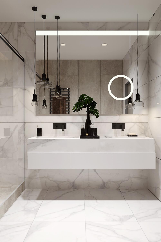 Дизайн ванной комнаты в светлой цветовой гамме