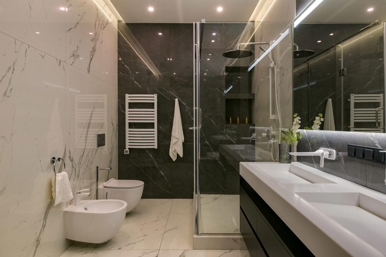 Современный дизайн интерьера ванной комнаты в квартире