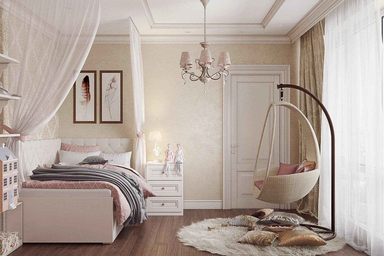 Дизайн интерьера комнаты девочки-подростка