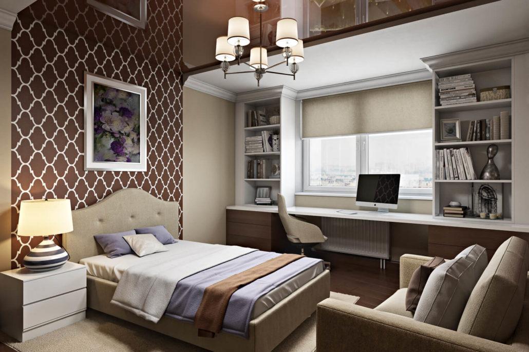 Дизайн подростковой комнаты в классическом стиле