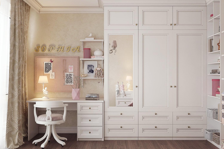 Дизайн комнаты для девочки-подростка в нежных тонах