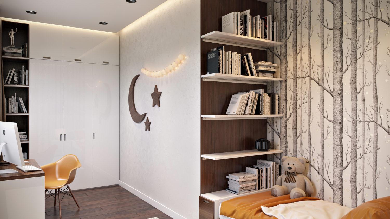 Дизайн интерьера уютной подростковой комнаты