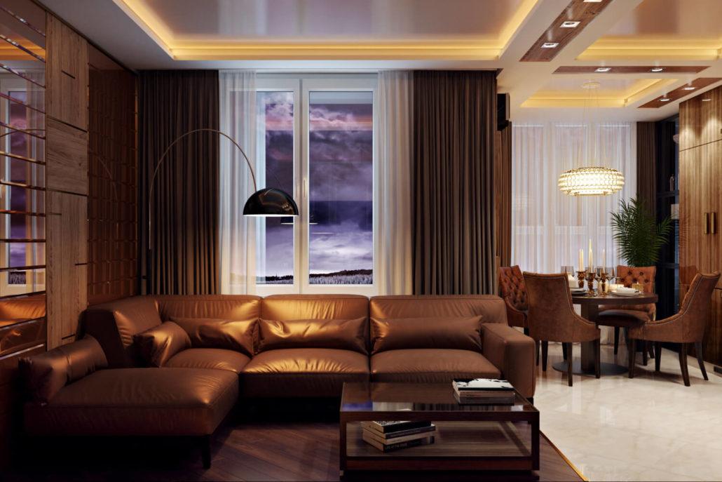 Многофункциональное освещение в гостиной